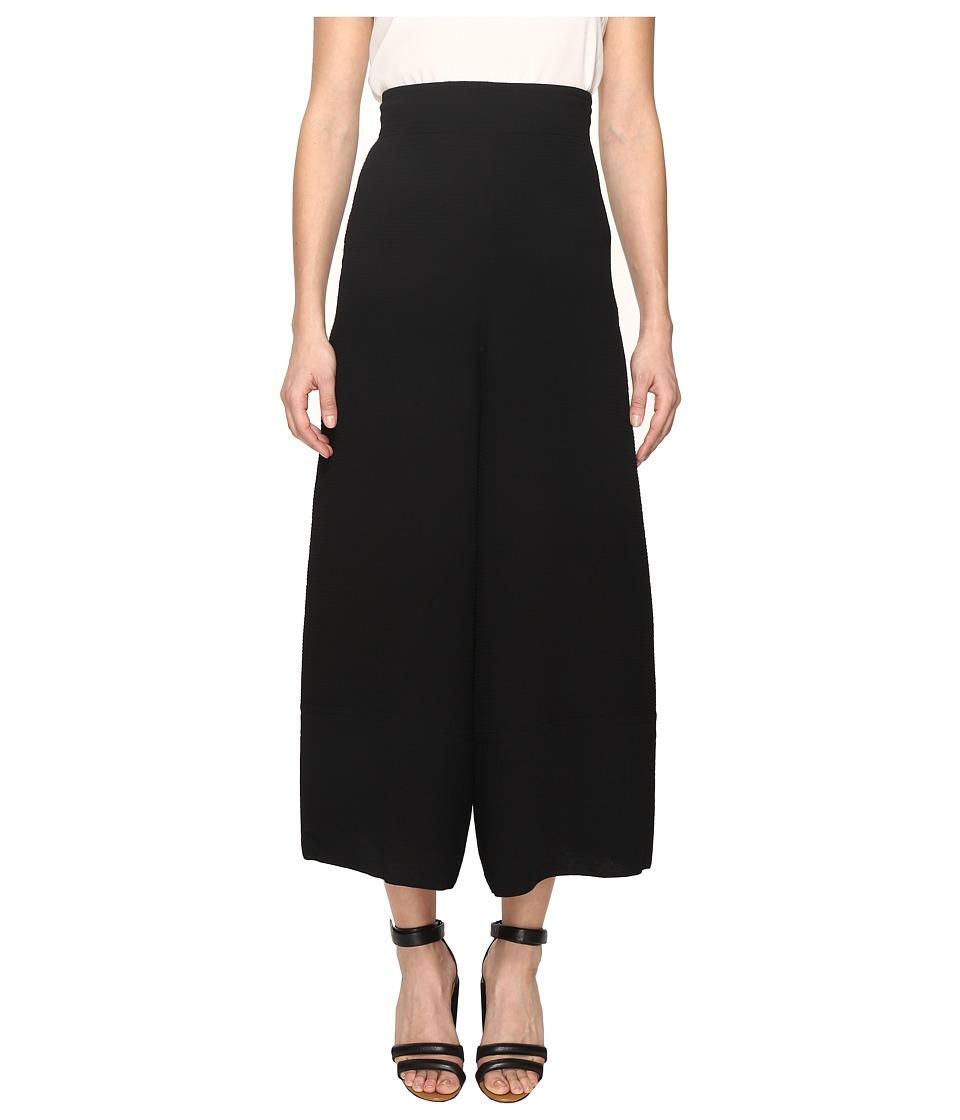 See by Chloe - Jacquard Wide Leg Pants (Black) Women's Casual Pants