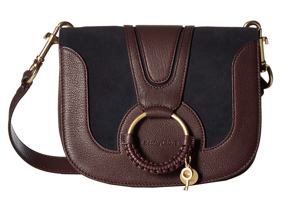 See by Chloe - Hana Small Shoulder Bag (Dark Plum) Shoulder Handbags