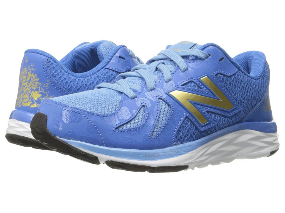 New Balance Kids - 790v6 - Beauty and The Beast (Little Kid/Big Kid) (Blue/Gold) Girl's Shoes