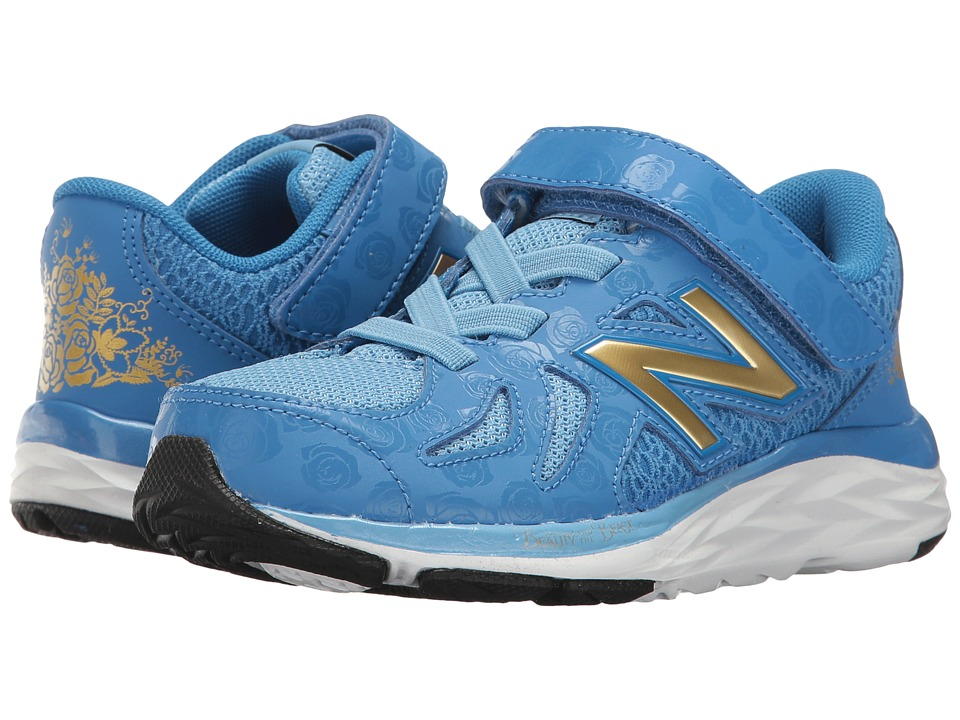 New Balance Kids - 790v6 - Beauty and The Beast (Little Kid) (Blue/Gold) Girl's Shoes