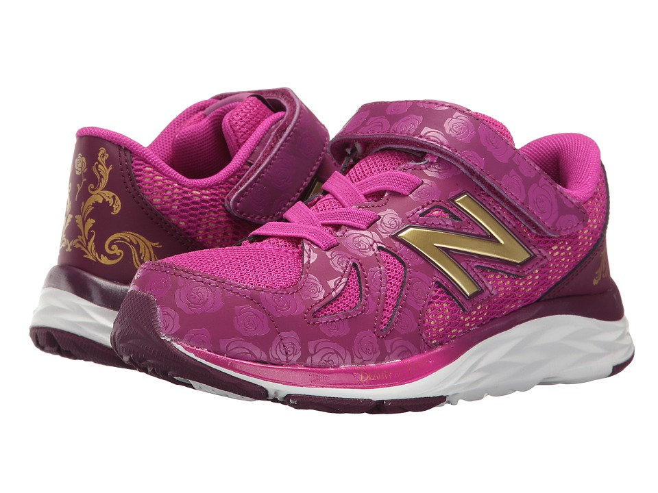 New Balance Kids - 790v6 - Beauty and The Beast (Little Kid) (Purple/Gold) Girl's Shoes
