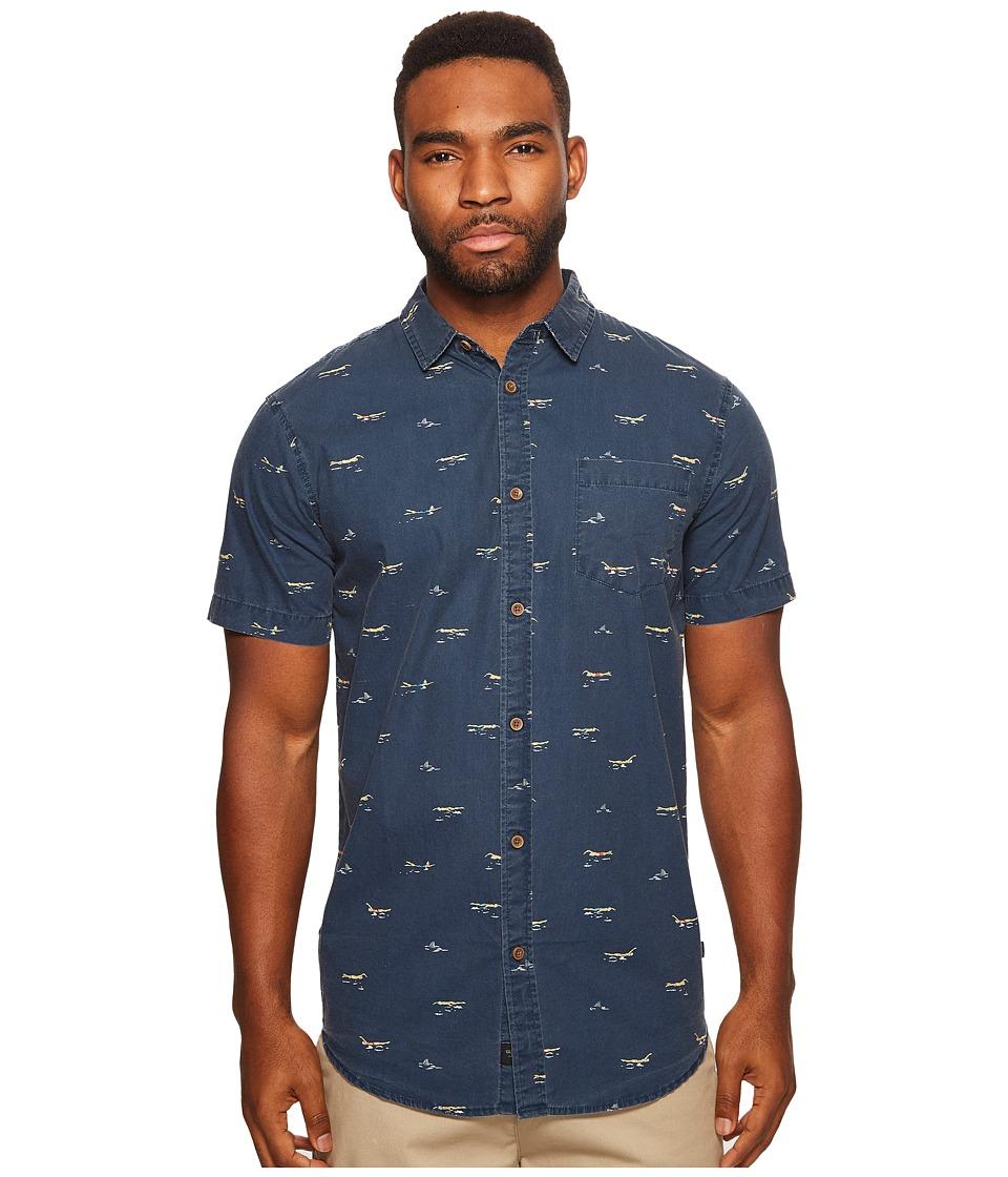 Globe - Freestyle Short Sleeve Shirt (Navy) Men's Short Sleeve Button Up