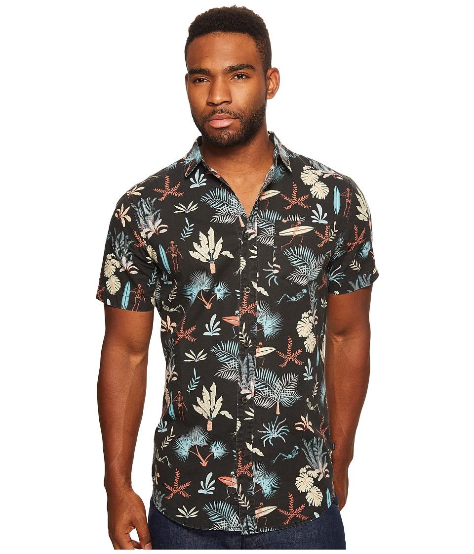 Globe - Sunburnt Short Sleeve Shirt (Black) Men's Short Sleeve Button Up