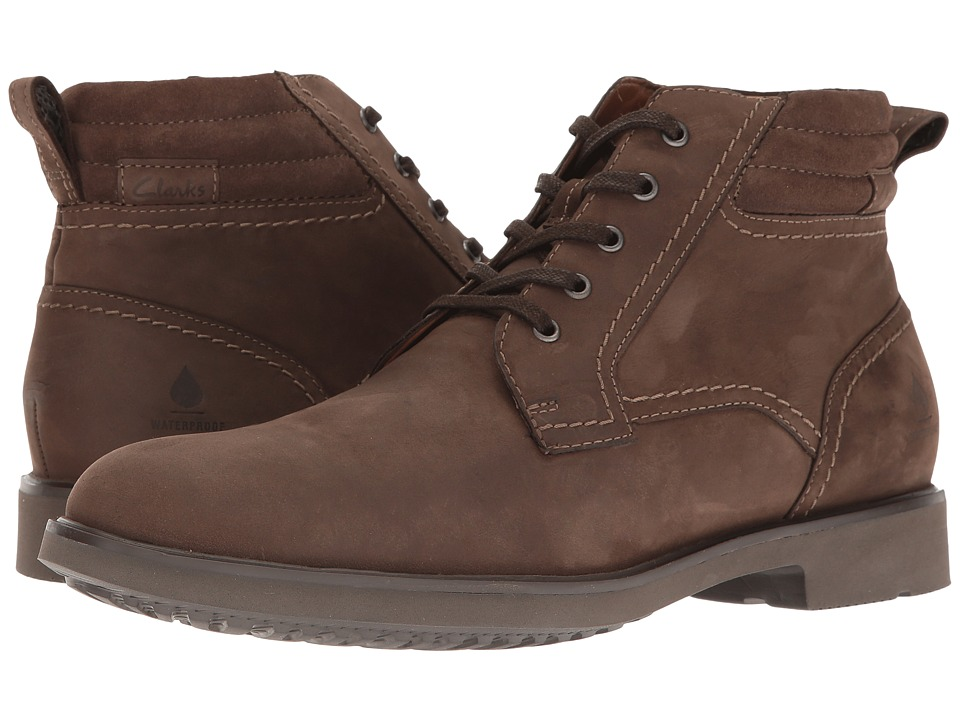 Clarks - Riston Edge (Brown Nubuck) Men's Shoes