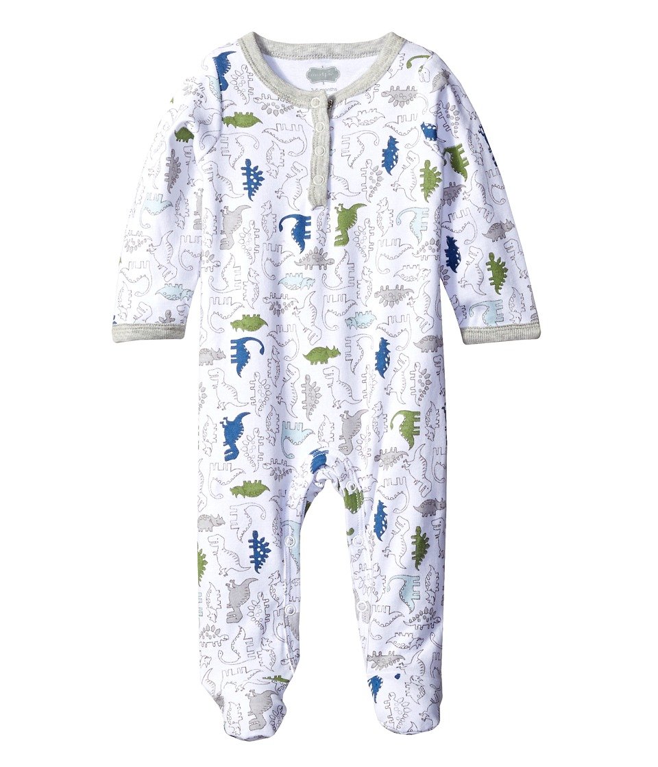 Mud Pie - Dinosaur Footed Sleeper (Infant) (Blue) Boy's Jumpsuit & Rompers One Piece