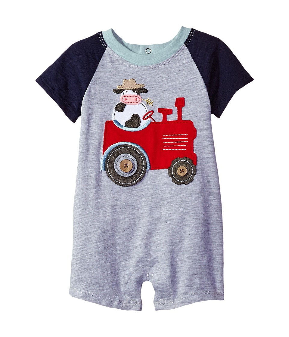 Mud Pie - Tractor Raglan One-Piece (Infant) (Blue) Boy's Jumpsuit & Rompers One Piece