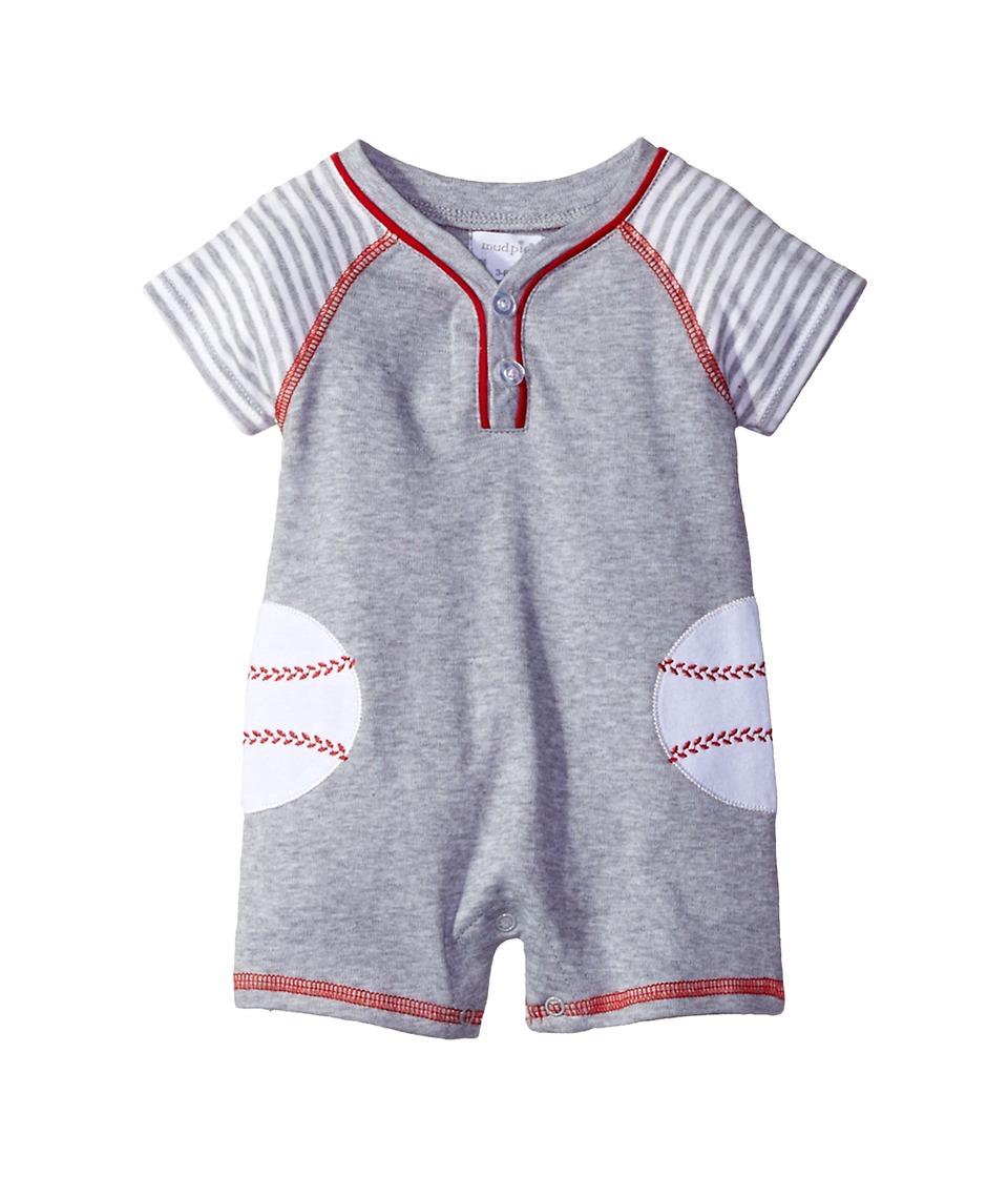 Mud Pie - Baseball Raglan One-Piece (Infant) (Gray) Boy's Jumpsuit & Rompers One Piece