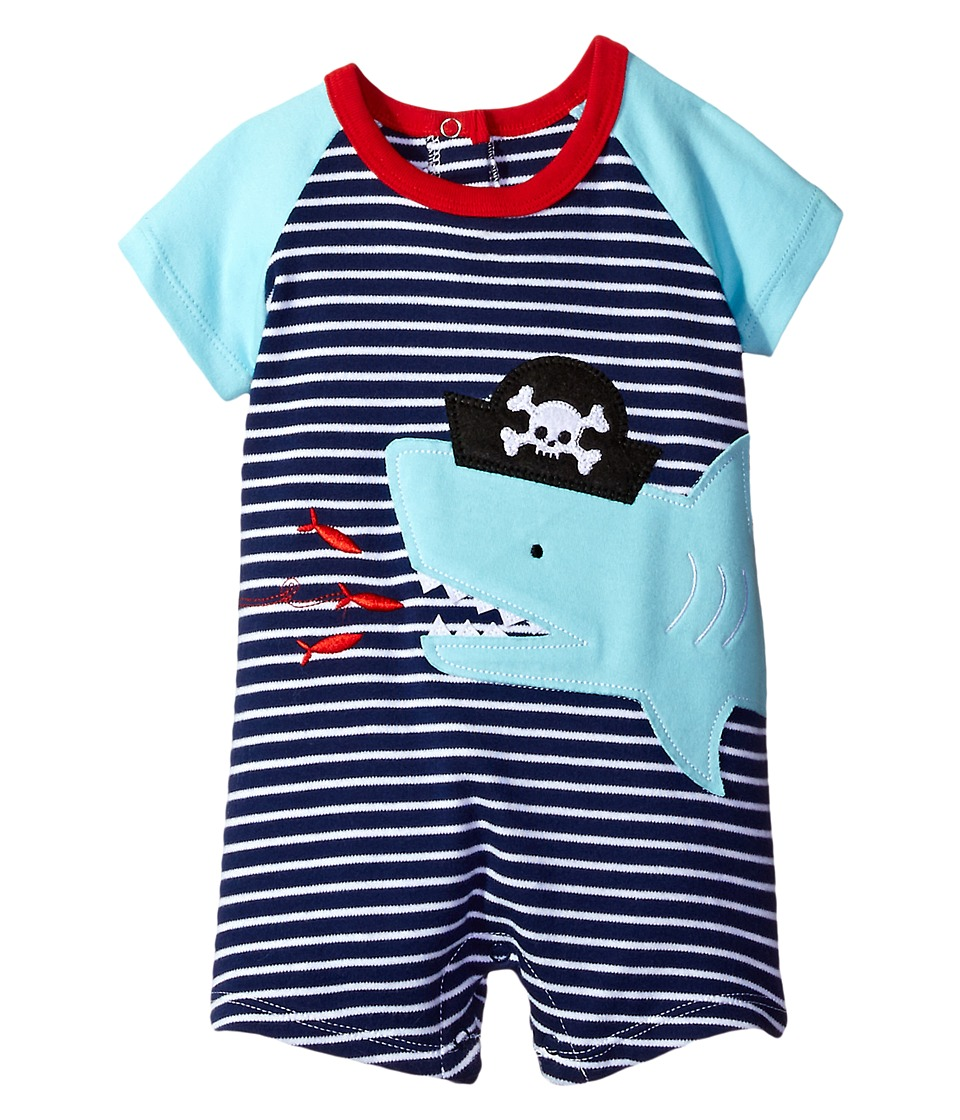 Mud Pie - Pirate Shark One-Piece (Infant) (Blue) Boy's Jumpsuit & Rompers One Piece
