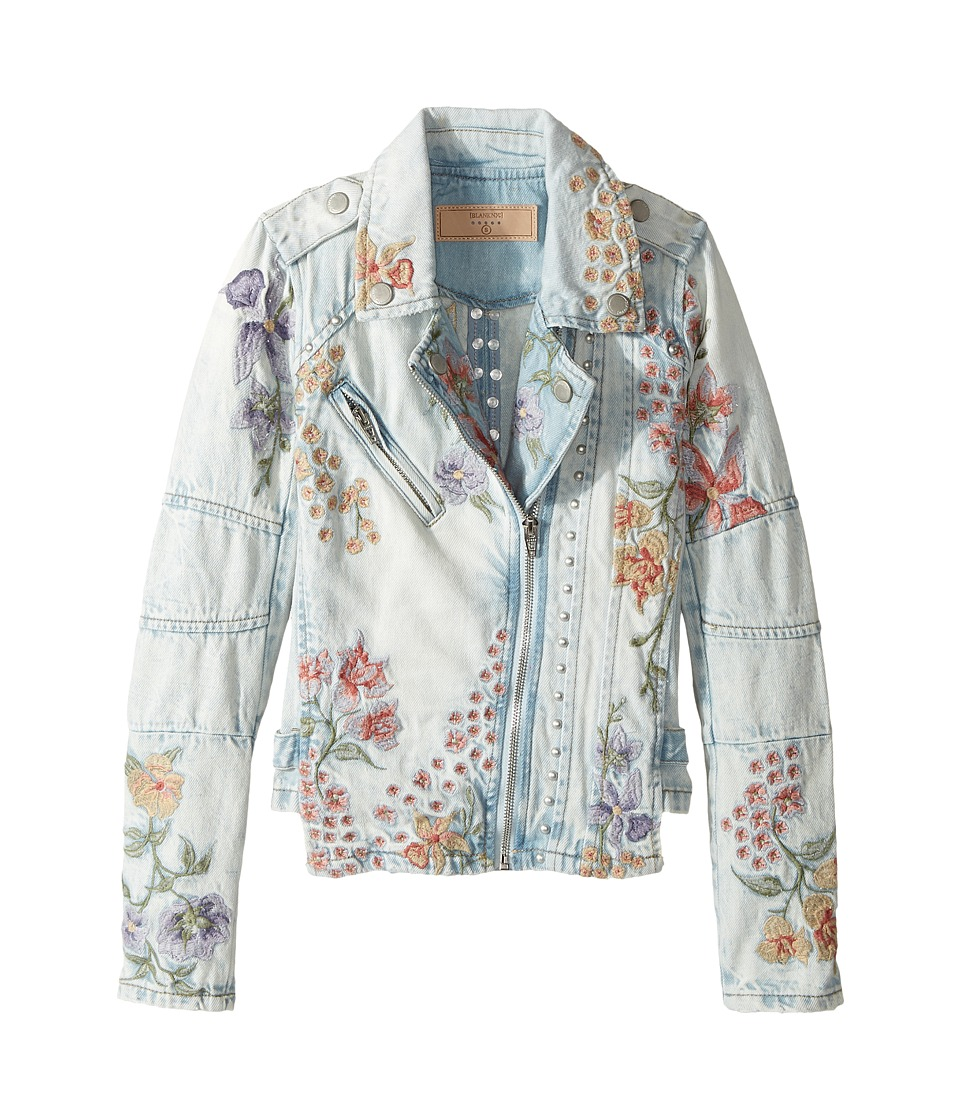 Blank NYC Kids - Denim Floral Embroidered Jacket in Sitting Pretty (Big Kids) (Sitting Pretty) Girl's Coat