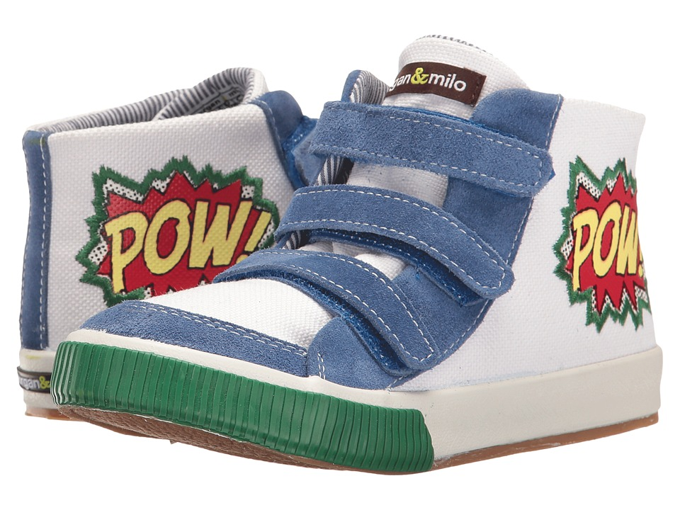Morgan&Milo Kids - Dustin Pow (Toddler/Little Kid) (Marshmallow/Royal) Boys Shoes