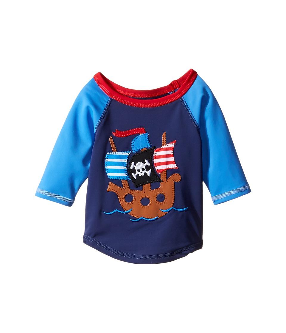 Mud Pie Pirate Shark Rashguard (Infant/Toddler) (Blue) Boy