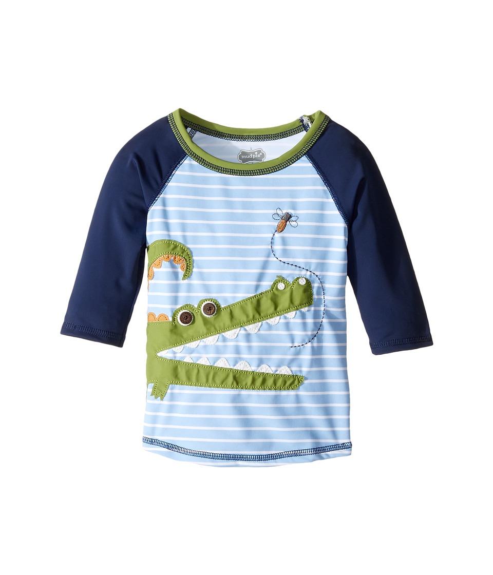Mud Pie - Gator Rashguard (Infant/Toddler) (Blue) Boy's Swimwear
