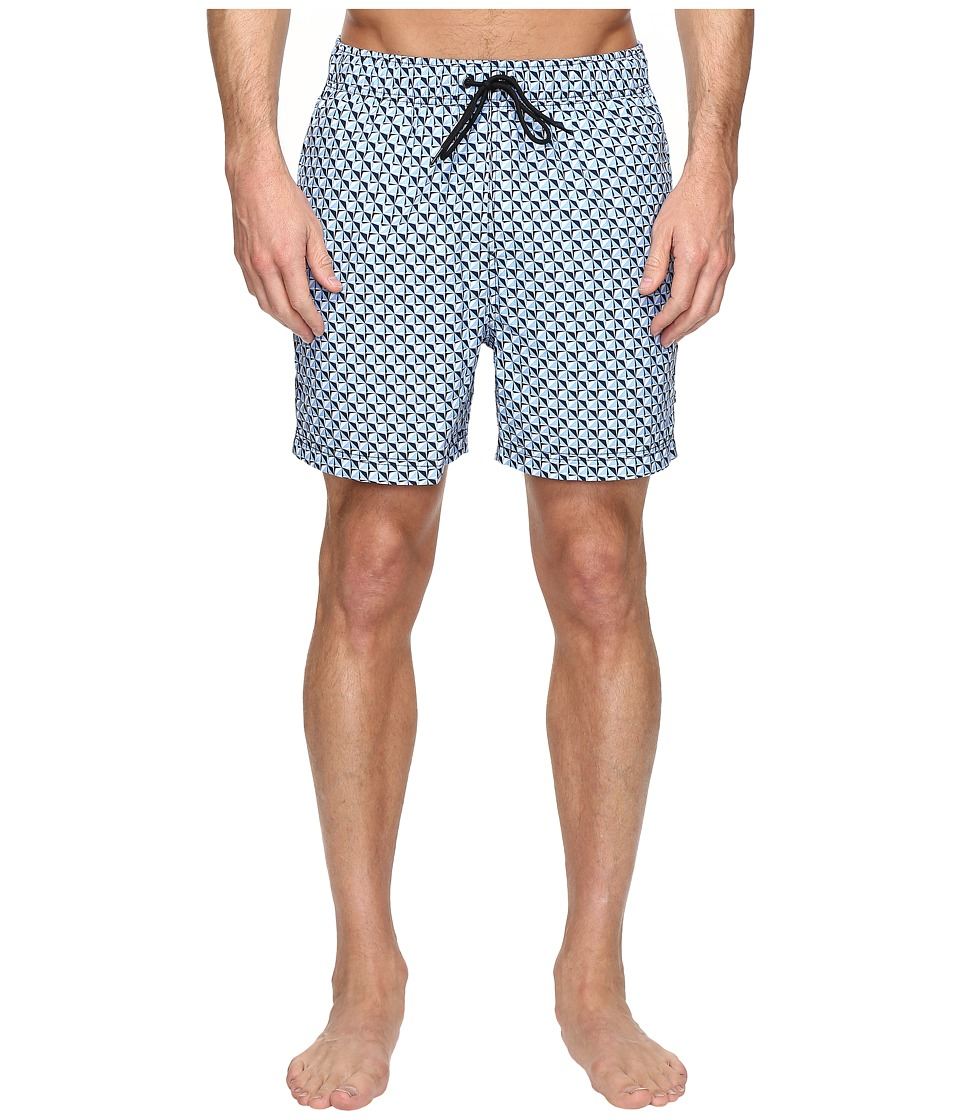 Nautica - Compass Print Trunk (Dellarouis Blue) Men's Swimwear