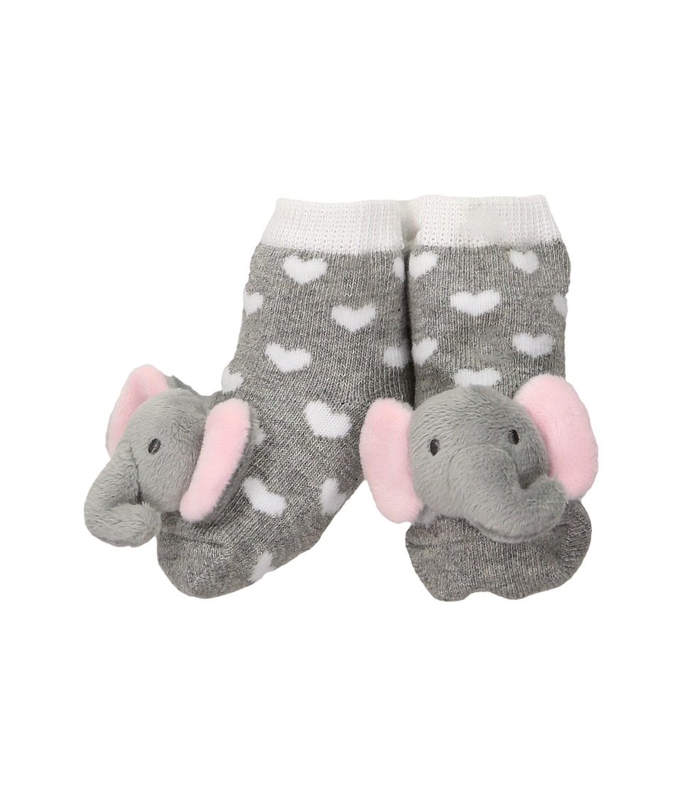 Mud Pie - Gray Grandma Favorite Bib and Sock Set (Infant) (Pink) Girls Shoes
