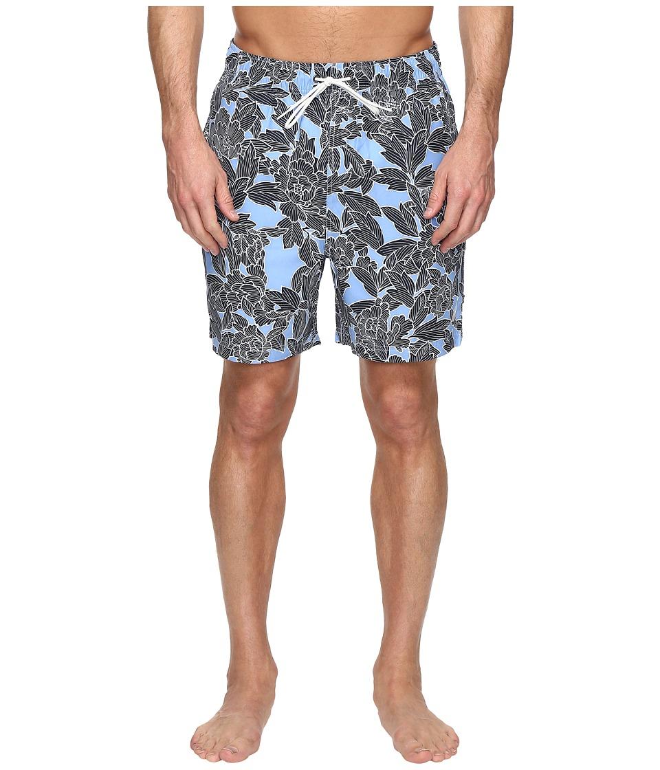 Nautica - Floral Print Trunk (Dellarouis Blue) Men's Swimwear