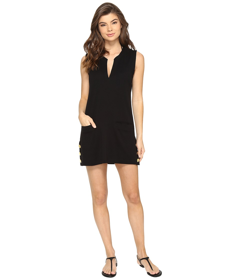 LAUREN Ralph Lauren - Button Tunic Cover-Up (Black) Women's Swimwear