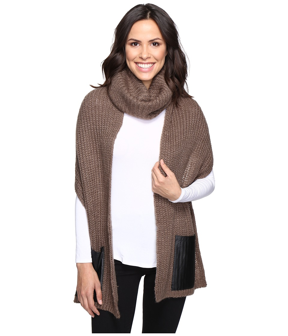 Steve Madden - Pocket Up Snood (Mushroom) Scarves
