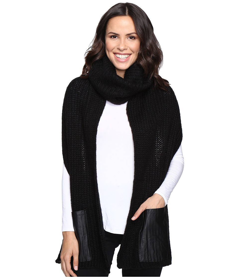 Steve Madden - Pocket Up Snood (Black) Scarves