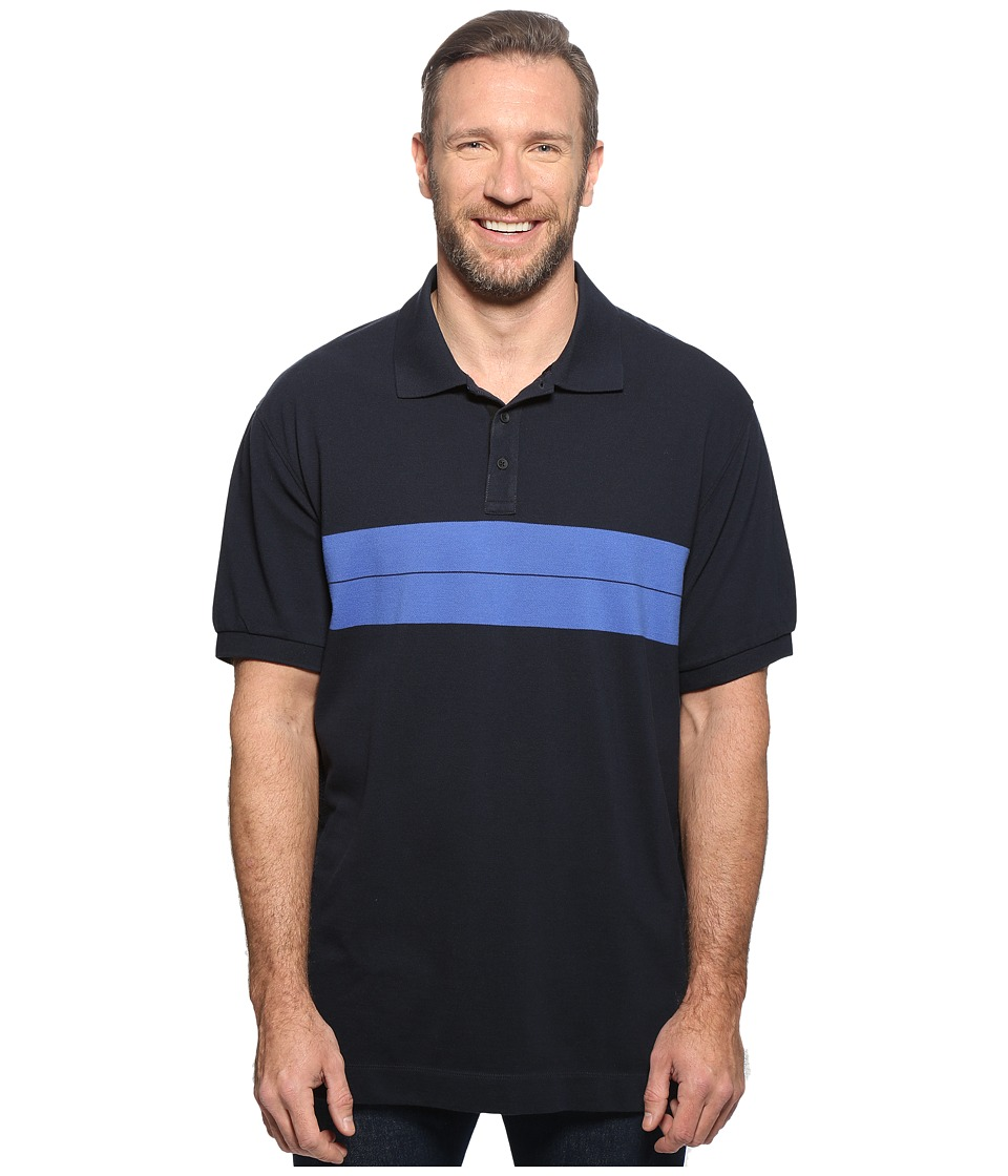 Nautica Big & Tall - Big Tall Short Sleeve Color Block (Navy) Men's Clothing