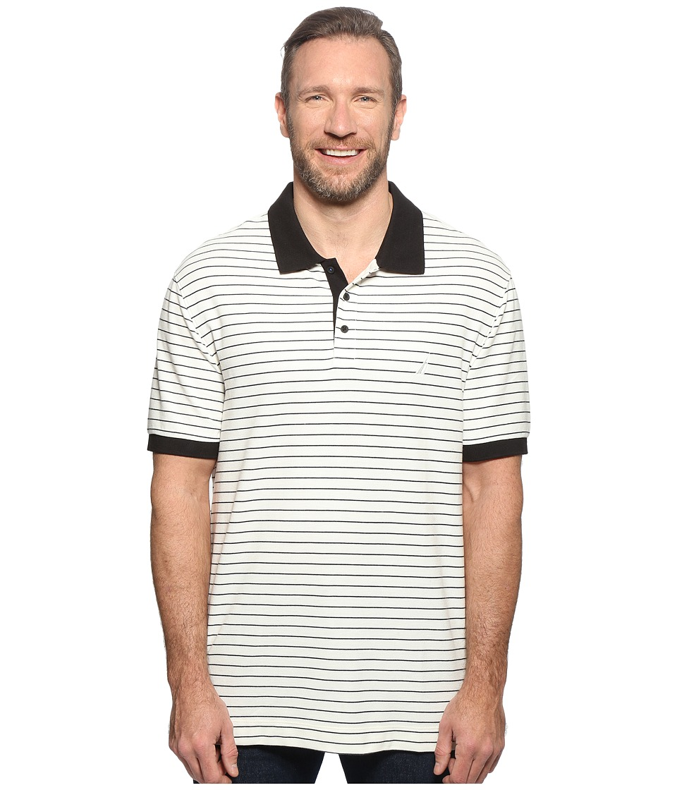 Nautica Big & Tall - Big Tall Short Sleeve Yarn-Dyed Polo (Marshmallow) Men's Clothing