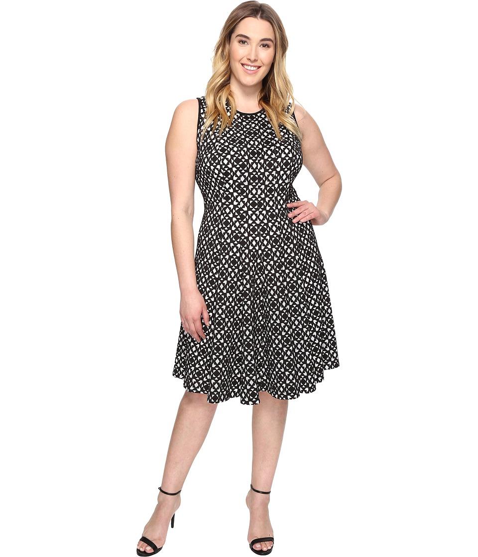 Calvin Klein Plus Plus Size Laser Cut Flare Dress