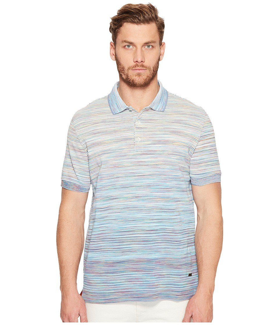 Missoni - Fumato Pique Polo (Light Blue) Men's Clothing