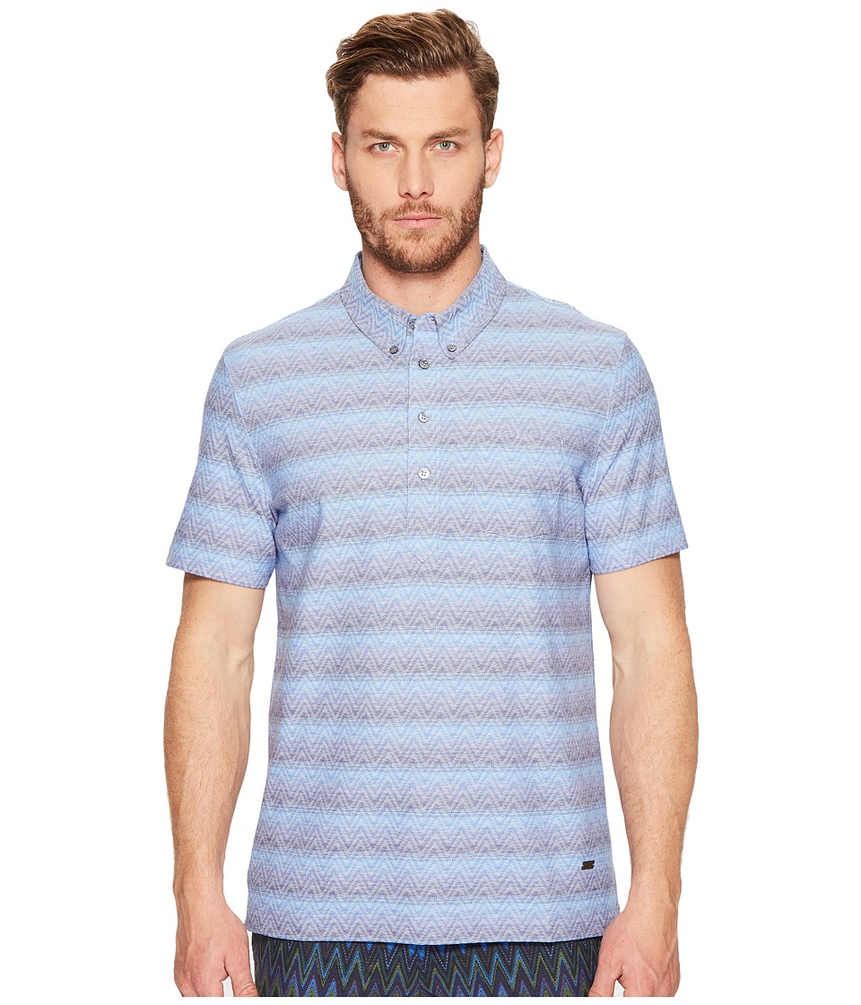 Missoni - Jersey Zigzag Sfumato Polo (Light Blue) Men's Clothing