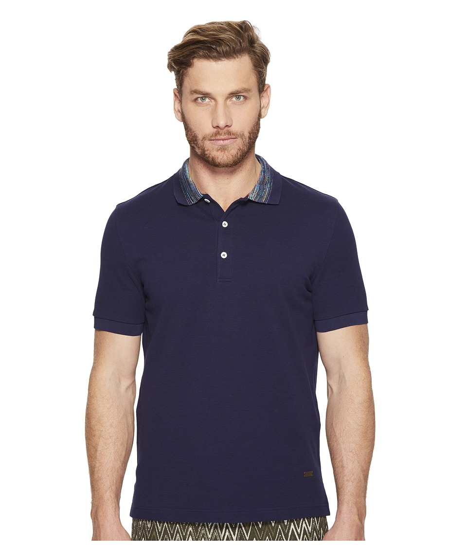 Missoni - Solid Pique Polo (Navy) Men's Clothing