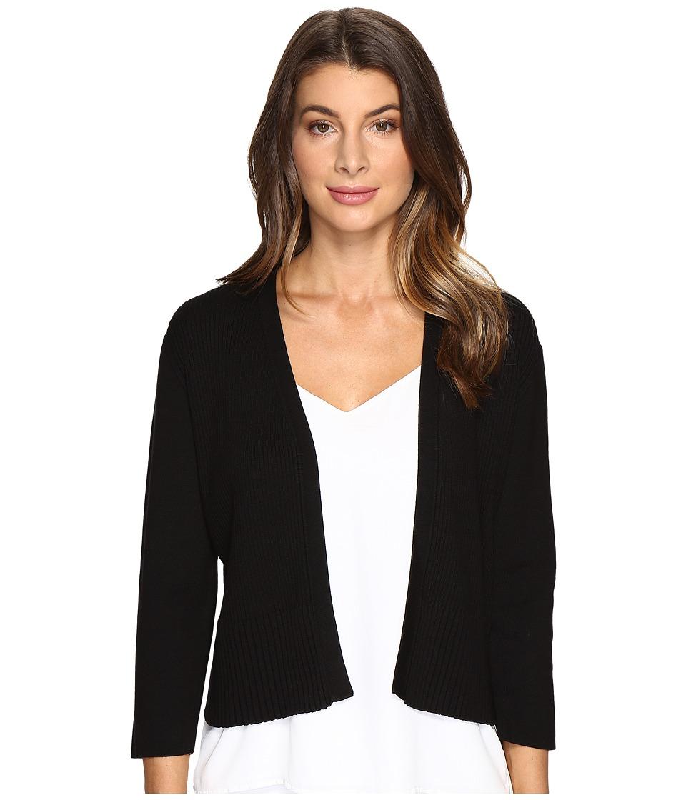 Calvin Klein Plus Plus Size Multi Rib Shrug (Black) Women