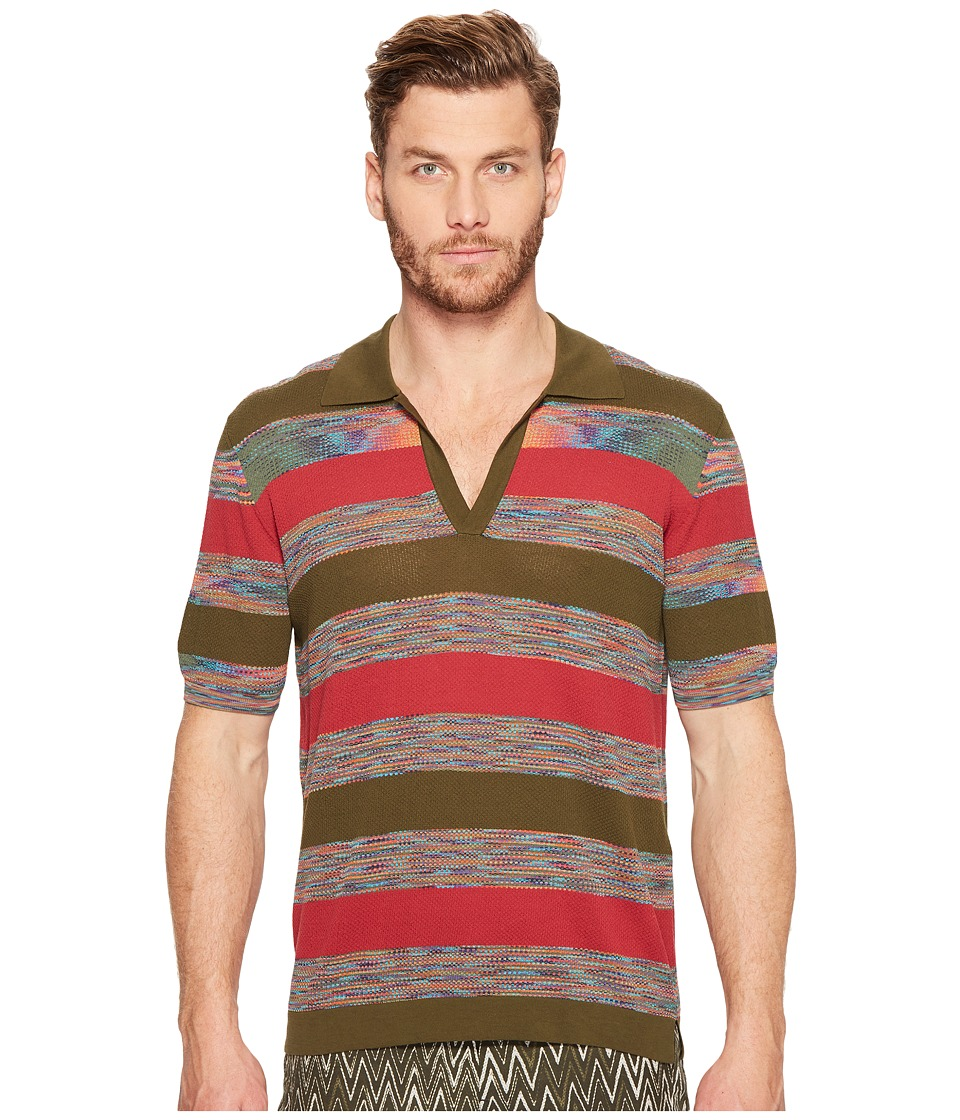 Missoni - Crepe Polo (Green) Men's Clothing