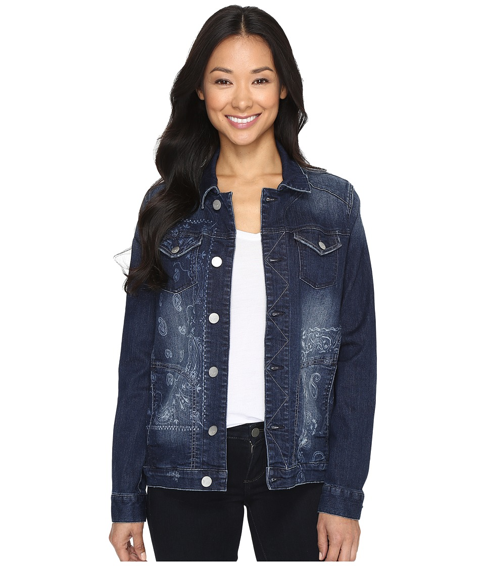 Jag Jeans - Lowen Laser Mission Denim Jacket in Rapid Dark (Rapid Dark/Bandana) Women's Coat