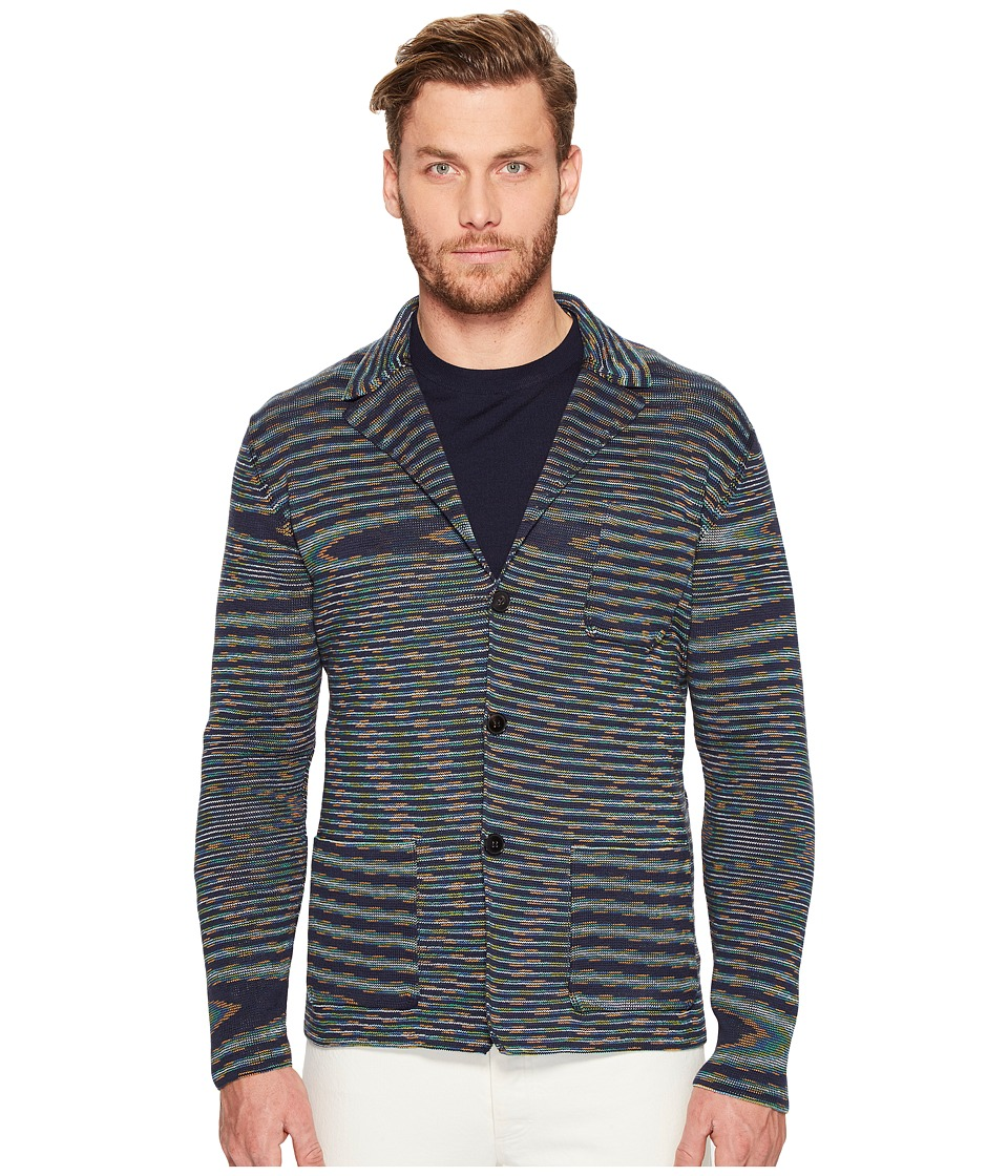 Missoni - Knitted Blazer (Blue) Men's Jacket
