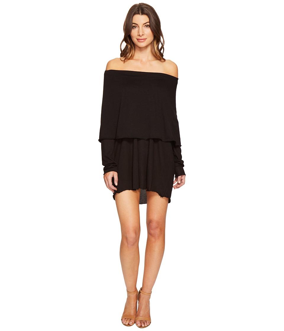 Culture Phit Austen Off the Shoulder Fold-Over Dress (Black) Women