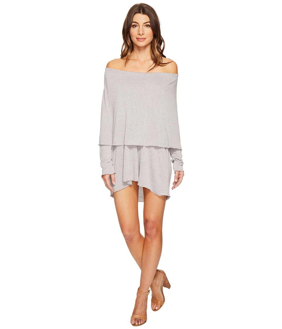 Culture Phit - Austen Off the Shoulder Fold-Over Dress (Heather Grey) Women's Dress