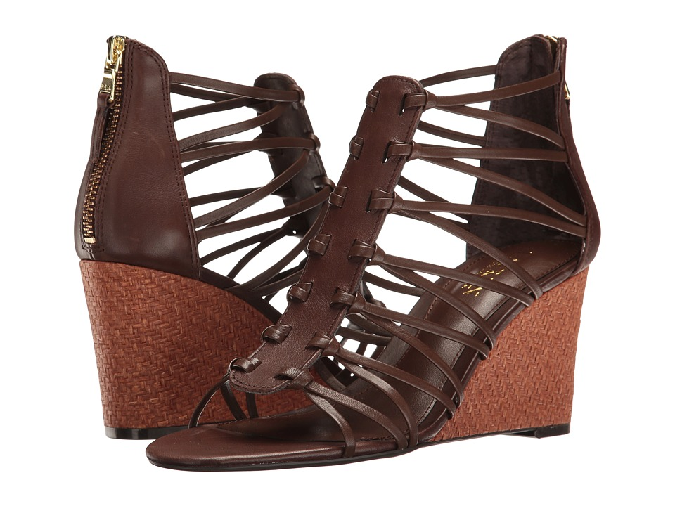 LAUREN Ralph Lauren - Alexandrea (Burnished Brown) Women's Wedge Shoes