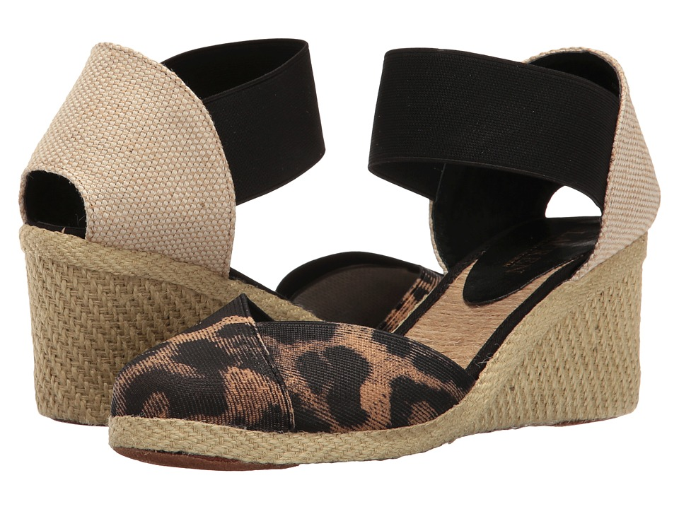 LAUREN Ralph Lauren - Charla (Leopard/Black) Women's Wedge Shoes