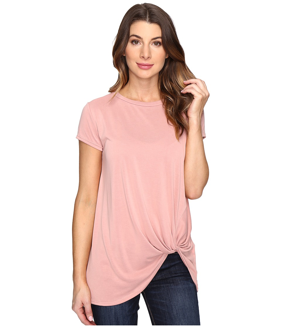 Brigitte Bailey - Knot Front T-Shirt (Dust Pink) Women's T Shirt