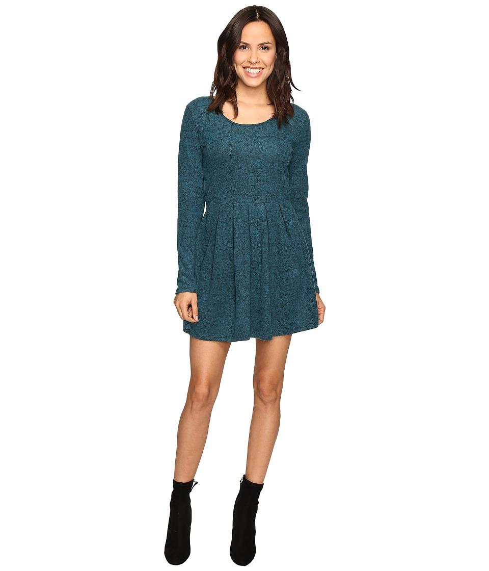 Brigitte Bailey - Rebecca Fuzzy Long Sleeve Dress (Teal) Women's Dress
