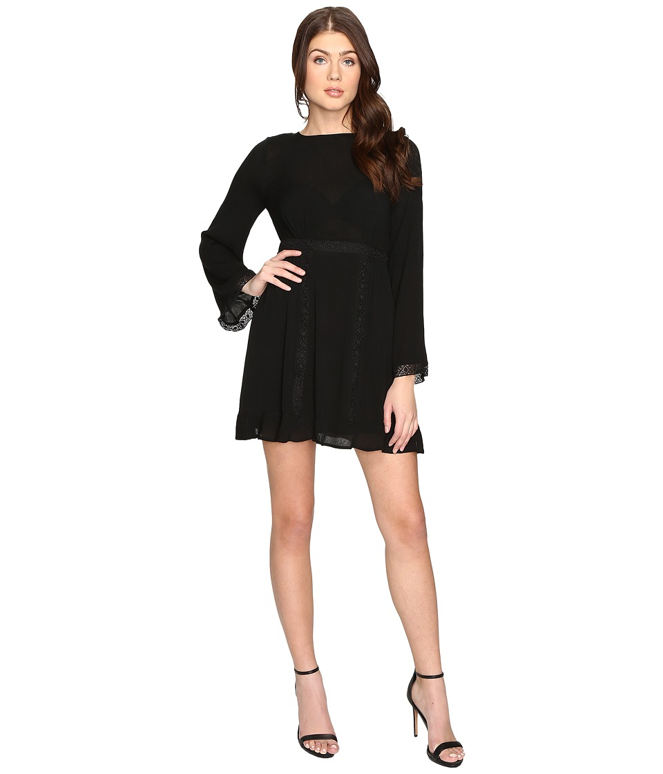 Brigitte Bailey - Layla Long Sleeve Dress with Trim Detail (Black) Women's Dress