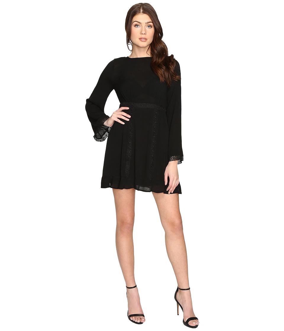 Brigitte Bailey - Layla Long Sleeve Dress with Trim Detail (Black) Women's Dress