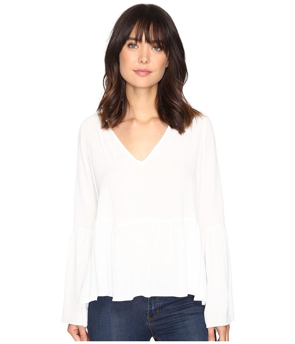 Brigitte Bailey - Leslie Bell Sleeve Peplum Long Sleeve Top (Ivory) Women's Clothing