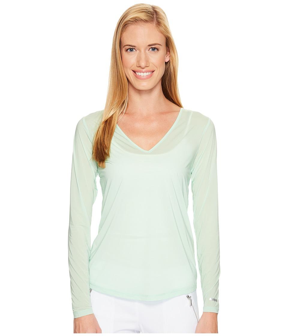 Jamie Sadock - Sunsense(r) Long Sleeve Layering Top (Mint Julep) Women's Long Sleeve Pullover