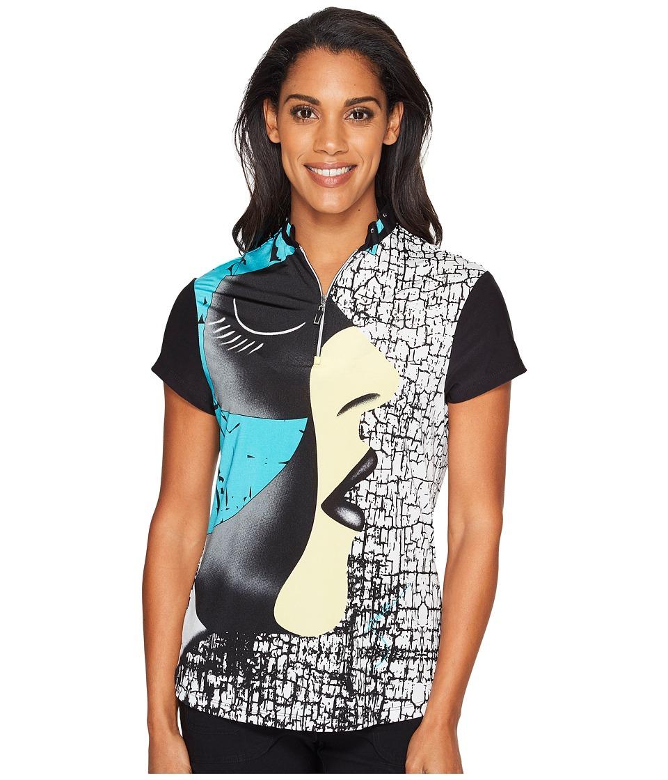 Jamie Sadock - Facetime Short Sleeve Top (Antigua) Women's Clothing