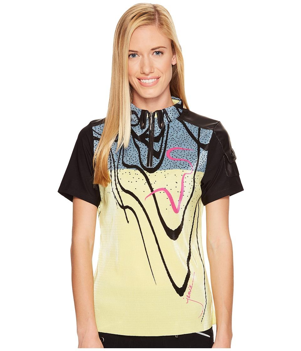 Jamie Sadock - Crunchy Seaweed Print Mid Short Sleeve Top (Mint Julep) Women's Clothing