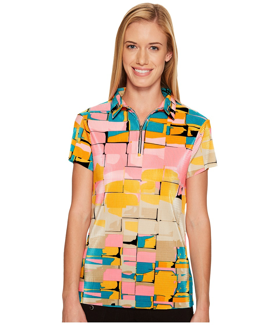 Jamie Sadock - Digi Box Print Short Sleeve Top (Yum Yum) Women's Clothing