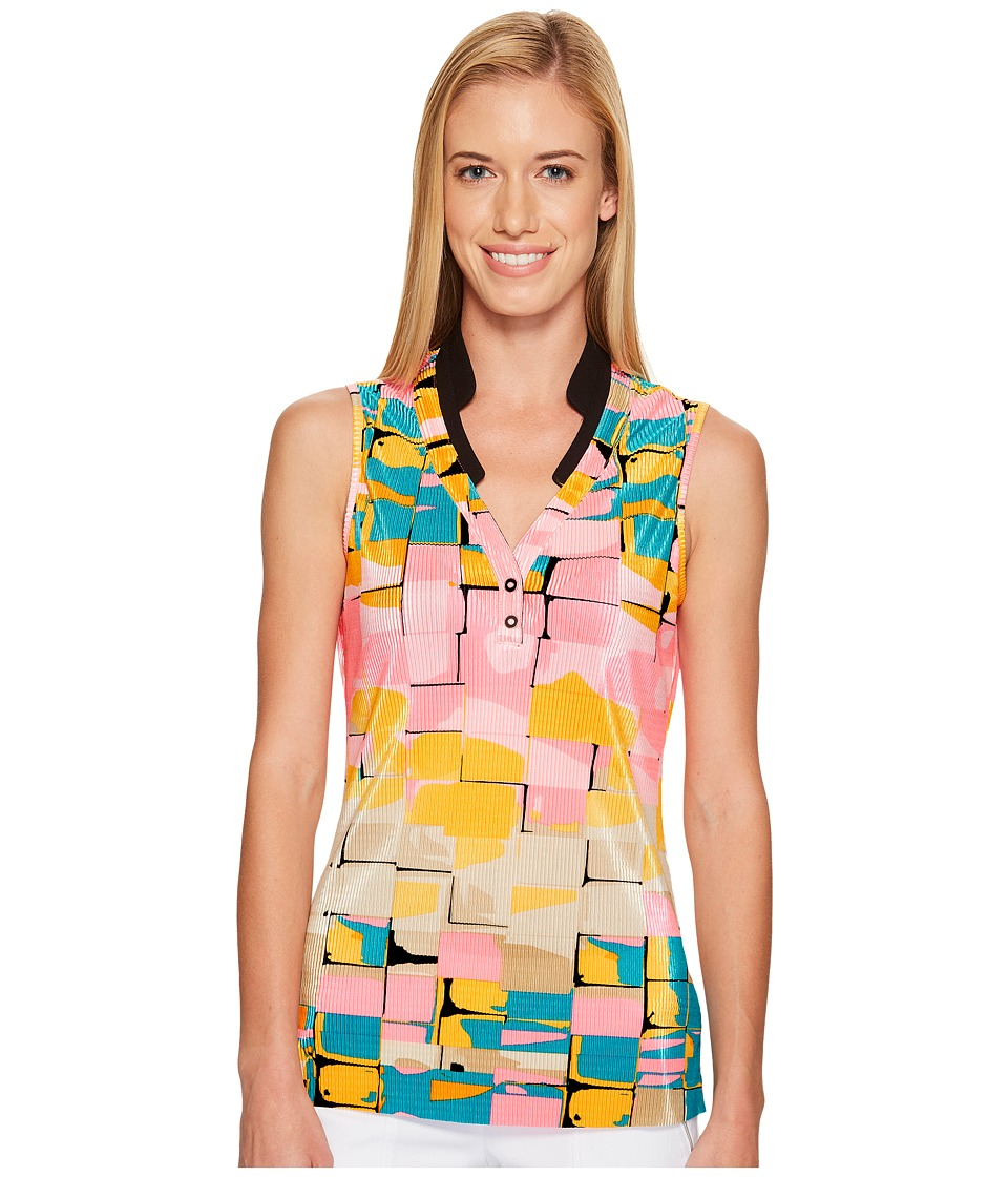 Jamie Sadock - Digi Box Print Sleeveless Top (Yum Yum) Women's Sleeveless