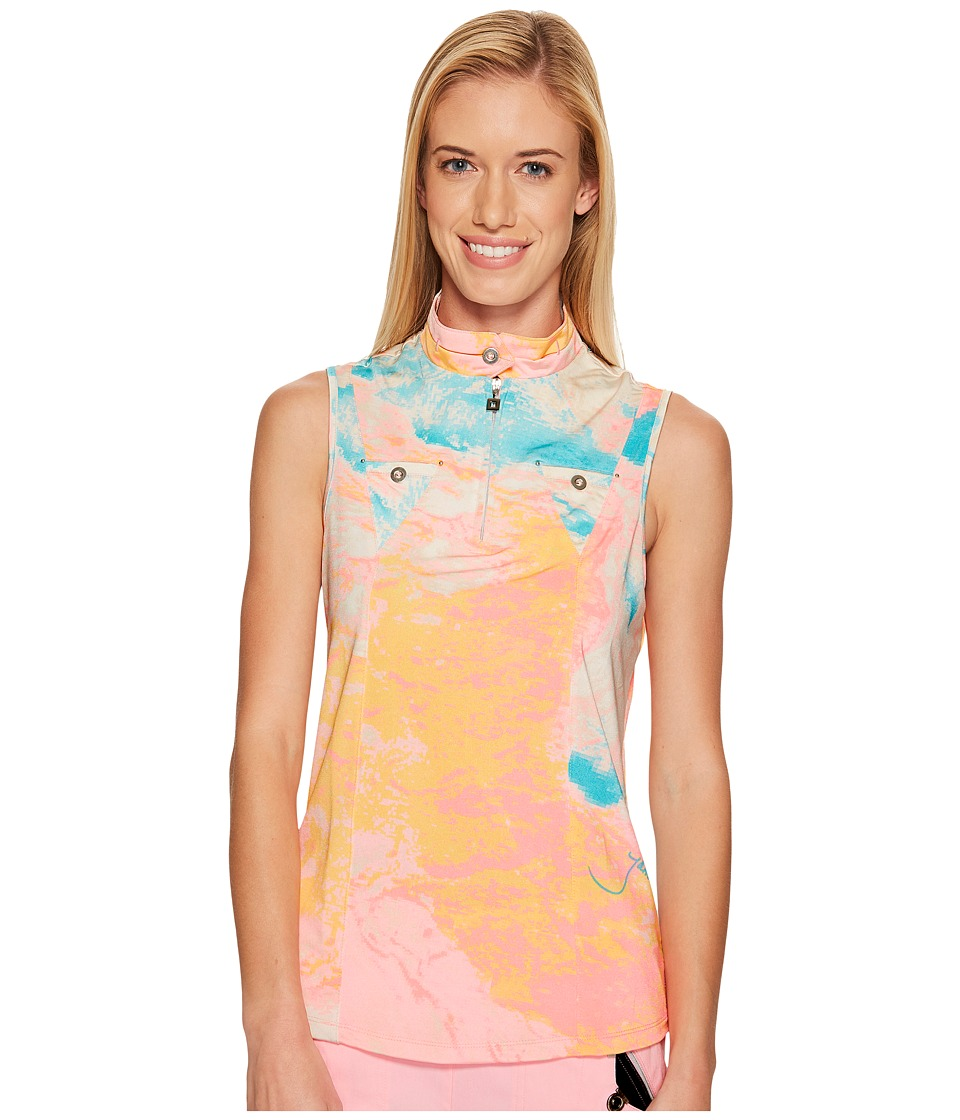 Jamie Sadock - Lava Print Sleeveless Top (Yum Yum) Women's Sleeveless