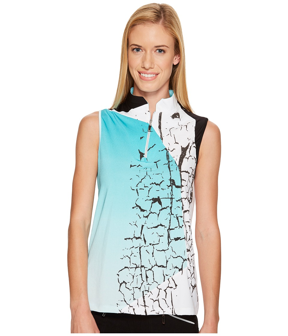 Jamie Sadock - Crackle Print Sleeveless Top (Antigua) Women's Sleeveless