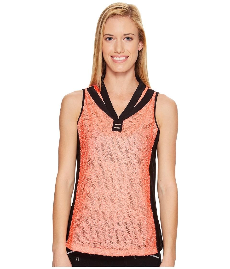 Jamie Sadock - Rice Paper Textured Sleeveless Top (Tutti Fruiti) Women's Sleeveless
