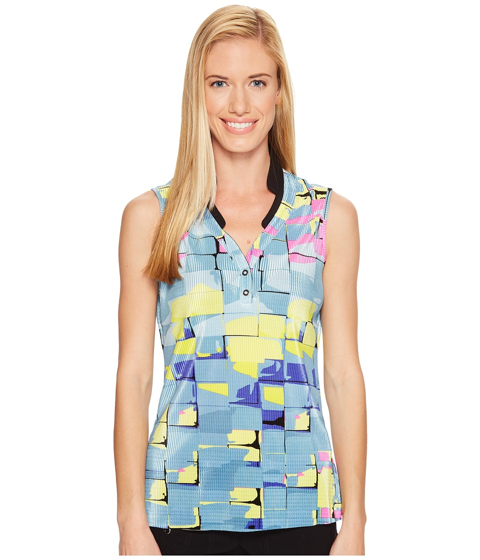 Jamie Sadock - Digi Box Print Sleeveless Top (Angelic) Women's Sleeveless
